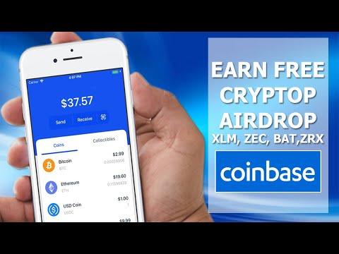 Get FREE $13 XLM, ZEC, BAT, ZRX in Coinbase