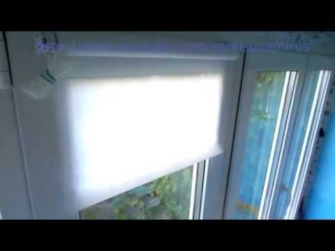 Установка рулонных штор Markisol (без сверления)