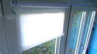 Установка рулонных штор Markisol (без сверления)(, 2015-06-12T12:31:03.000Z)