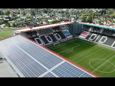 Skagerak Arena Med Solcellepaneler Youtube