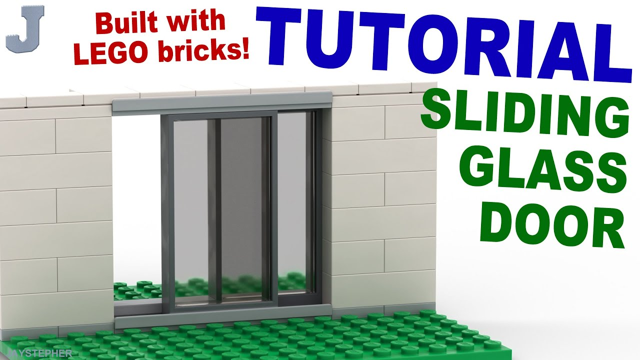 How To Make A Lego Sliding Door Tutorial Youtube