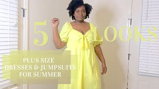 ✨NEW Summer Jumpsuits & Dresses From Target || Plus Size Haul || Summer 2020✨