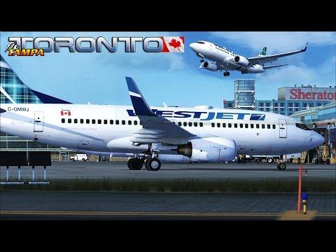 FSX [HD] - Westjet | Boeing 737-700 | Windy Approach | Toronto