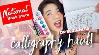 CALLIGRAPHY HAUL for Beginners from National Bookstore! | Tombow brush pens, Limelight Journal, Etc!