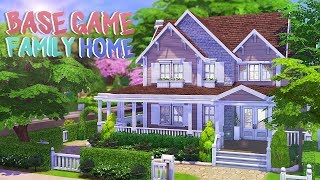 BASE GAME FAMILY HOME 💕 | The Sims 4 | Speed Build