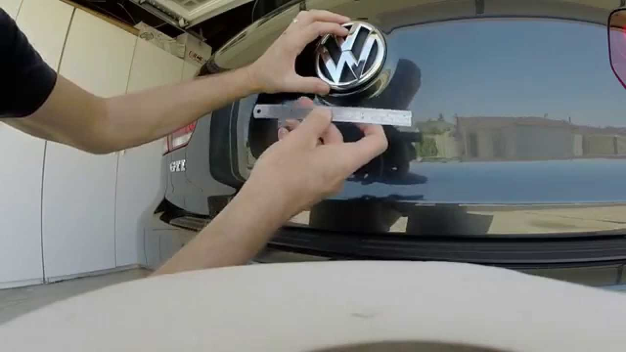 2013 Vw Gti Episode 48 Removing Rear Hatch Emblem And