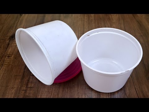 Waste Container Craft Idea || Decorative Basket Making at Home || Best Out of Waste Idea