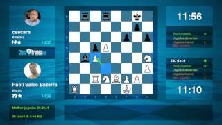 Chess Game Analysis: Raéli Sales Bezerra - csecara : 1-0 (By ChessFriends.com)