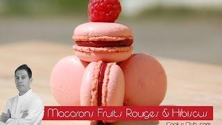 Macaron ganache fruits rouges & hibiscus Cook e Club