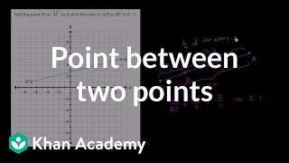 Finding a point part way between two points | Analytic geometry | Geometry | Khan Academy