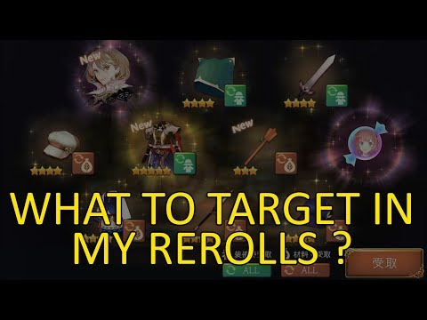 【Atelier Online: Alchemists of Braceir】What To Target In My Rerolls ?