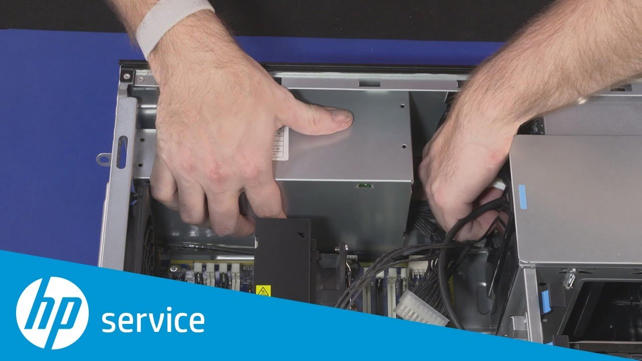How to Remove and Replace the Power Supply | HP Z4 G4 Workstation