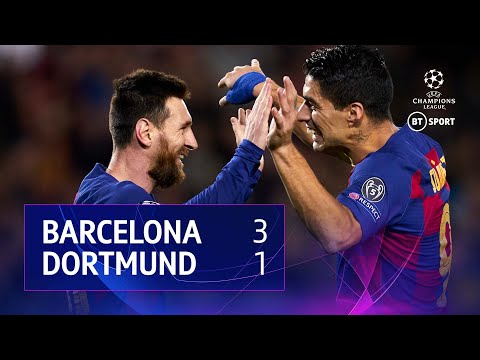 Barcelona vs Dortmund (3-1) | UEFA Champions League Highlights