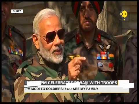 PM Modi celebrate Diwali with troops in Gurez, J&K