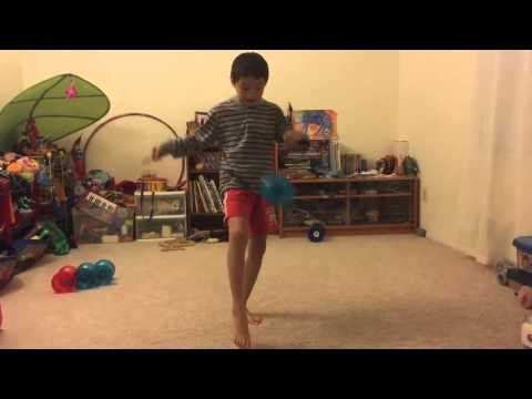 Chinese YoYo intermediate trick #7 leg catch