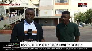 UKZN student in court for roommate's murder