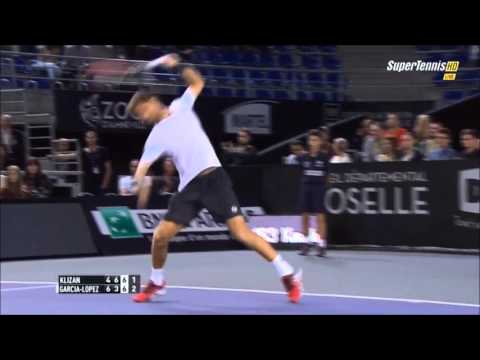 Guillermo Garcia Lopez vs Martin Klizan Highlights ᴴᴰ MOSELLE OPEN 2015