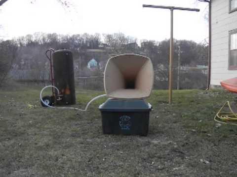 Homemade PVC air ship horn