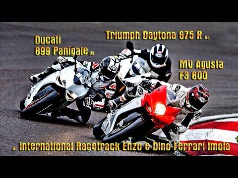 Ducati 899 vs MV F3 800 vs Triumph Daytona 675R