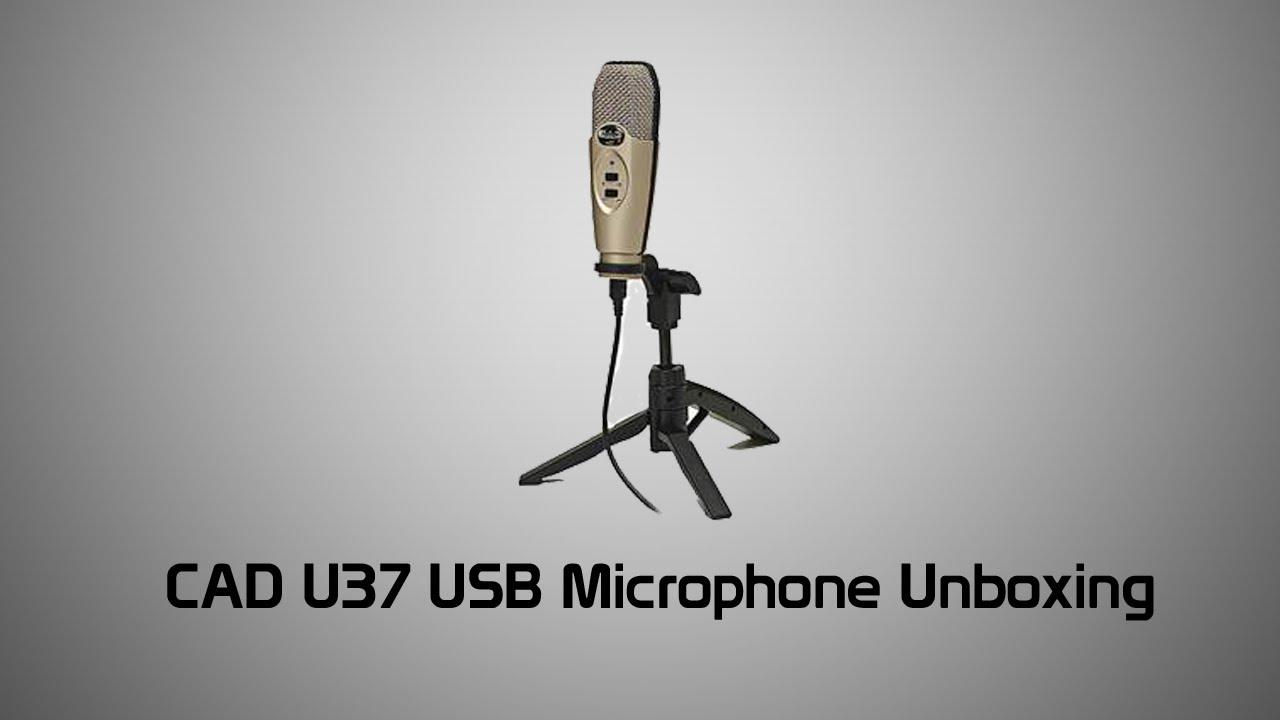 cad u37 usb microphone unboxing audio test youtube. Black Bedroom Furniture Sets. Home Design Ideas