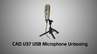 cad u37 usb microphone unboxing audio test