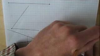 Построение треугольника по стороне и двум прилежащим углам - быстрое повторение.