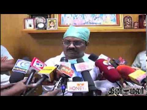 Karunanidhi's First Son M.K. Muthu Admitted To Hospital - Dinamalar Oct 26th Video News in Tamil