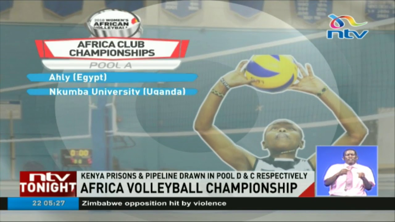 Kenya Prisons and Pipeline drawn in pool D and C in Africa Volleyball Championships