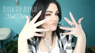 The Easiest and Fastest  Acrylic Nail Tutorial |Quick Dip Tutorial|