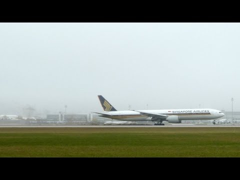 MISSED LANDING Singapore Airlines B777-312ER Munich Airport
