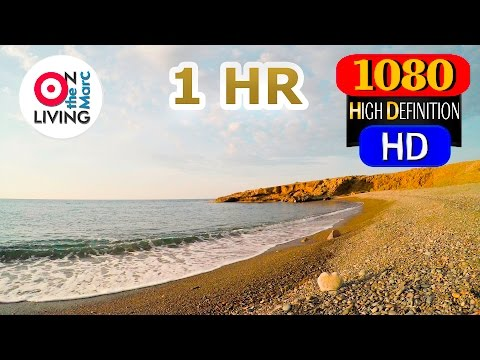 1 HOUR HD Relaxing Mediterranean Seaside Ocean Waves Stress Relief Relaxation Meditation GoPro Hero4