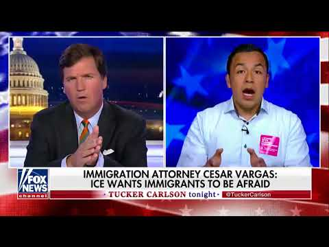 Tucker Debates Illegal Immigration, ICE Criticisms