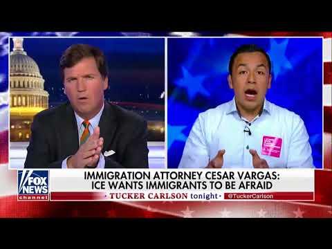 Tucker Debates Illegal Immigration, ICE Criticisms