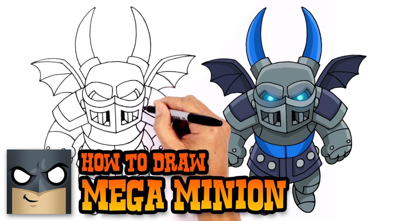 How To Draw Clash Royale Mega Minion Youtube