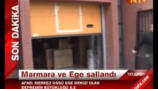 İstanbul Saroz'da Deprem - Marmara ve Ege Sallandı 8 Ocak 2013