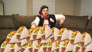 60 Soft Tacos in 10 Min CHALLENGE!