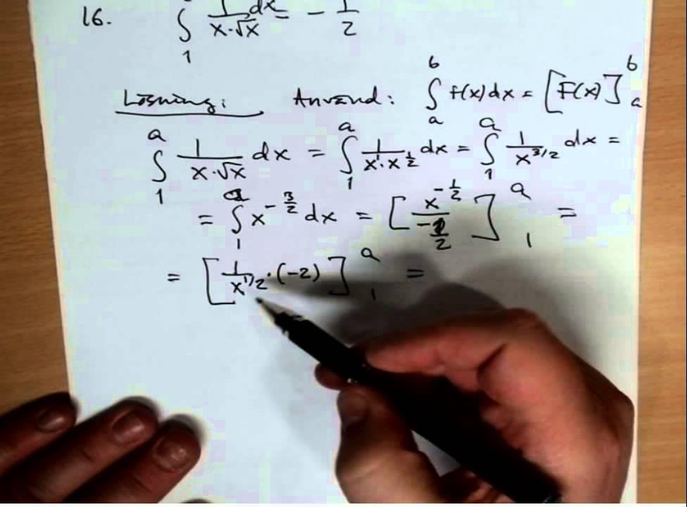 Ma3c Repetitionsuppgifter inför prov på integraler del 3