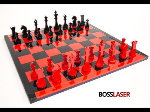 Laser Cut Acrylic Chess Game Set - Free File Download