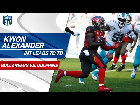 Kwon Alexander Picks Off Jay Cutler to Set Up O.J. Howard's TD Grab! | Bucs vs. Dolphins | NFL Wk 11
