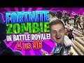 💀FORTNITE ZOMBIE MODE IN BATTLE ROYALE! | 4 Player vs 96 Zombies (Pickaxe only) | Epic Zombie Horde
