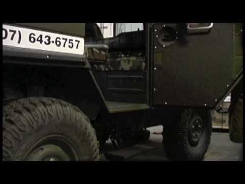 Pinzgauer Side and Tailgate Electric Step