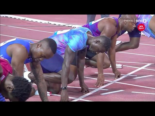 Akani Simbine 9.99 Destroys Justing Gatlin & Andre De Grasse 2017 Diamond League 2017