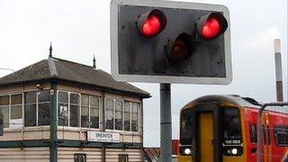 Sneinton Junction - Snow Trains - Nottingham ancient signal box & Rail Crossing