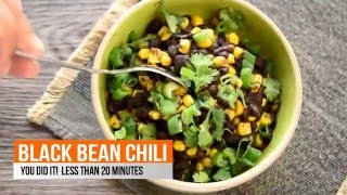 How To Make Best Vegetarian Black Bean Chili Video Recipe 5 Ingredients IT IS EASY! You can do it!