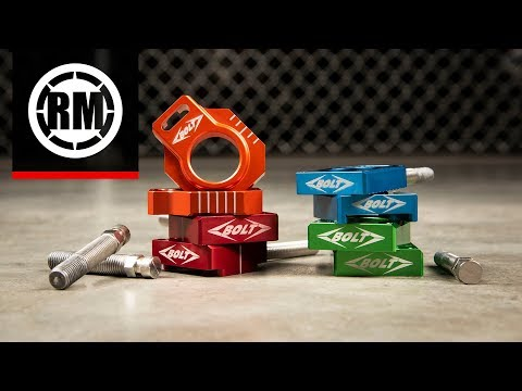 Bolt Billet Motorcycle Chain Adjuster Blocks