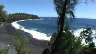 Kehena Black Sand Beach, Puna, Hawaii