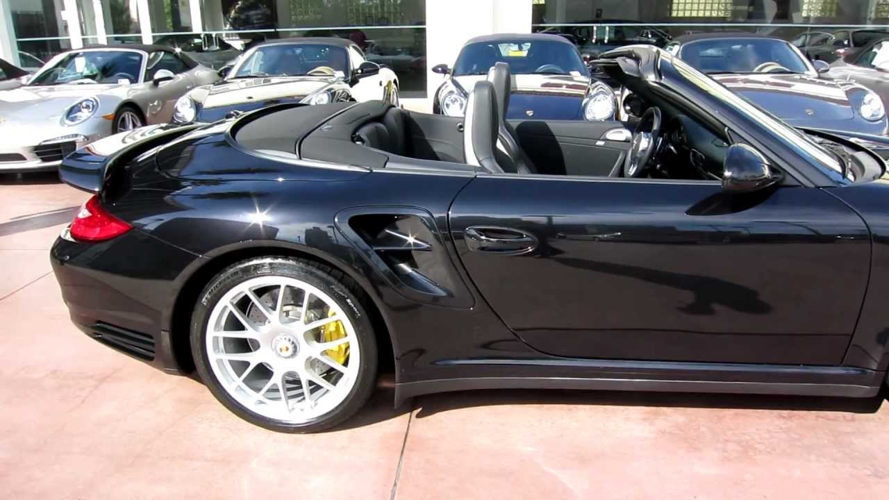 650 Mile 2012 Porsche 911 Turbo S Cabriolet In Basalt