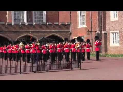 Changing the Guard:  Band of the Grenadier Guards: St.James Palace,  April 16,2015