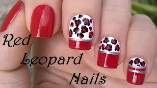 Elegant Red Nail Designs: Leopard Nail Art / Diy Easy Nails Using Dotting Tool