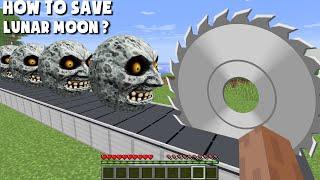 I SAWED 1000 SCARY MOONS IN MINECRAFT! REAL TRAP FOR LUNAR MOON